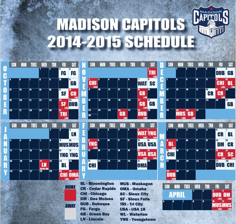 Mad Cap 2014 schedule