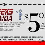 Geeksmania Arcade Coupon